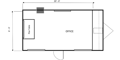 office trailer 8X20