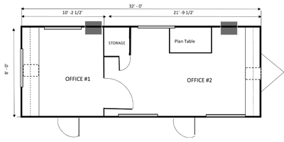 office trailer 8x32