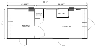 office trailer 10x36