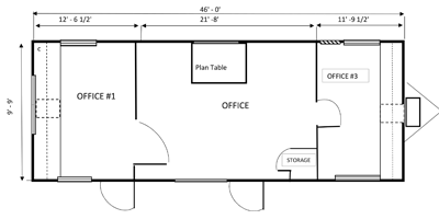 office trailer 10x46