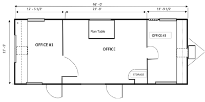 office trailer 12x46